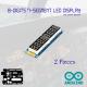 8-Digits 7-Segment LED Display (Set of 2)