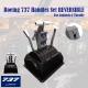 Boeing 737 Handles Set REVERSIBLE for Logitech G Pro Throttle