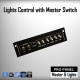 Lights Control Pro-Panel with master switches