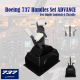 Boeing 737 Handles Set ADVANCE (Single Arm Dual Version) for Logitech G Pro Throttle